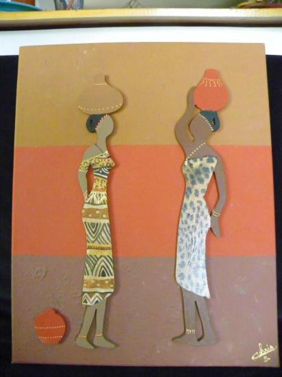 toile 2 femmes africaines