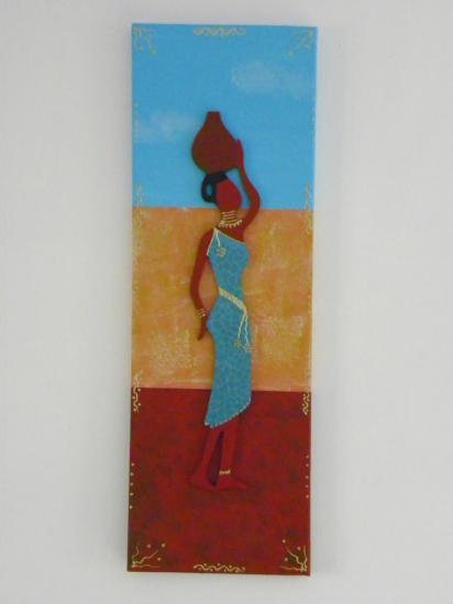Toile femme africaine