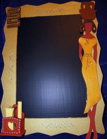 Ardoise or femme africaine