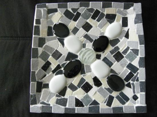 Vide poche carré en mosaïque