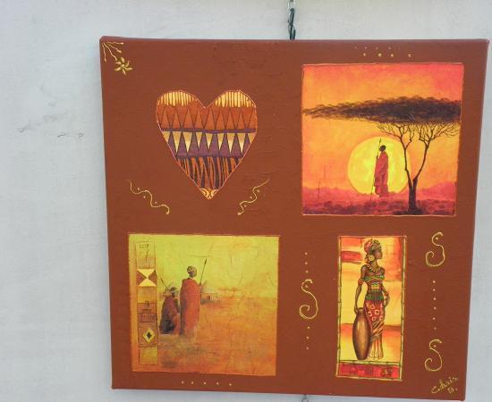 toile africaine n °3   40 euros