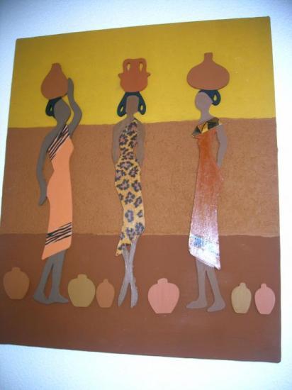 26 Femmes africainesTableau crée pour ma fille