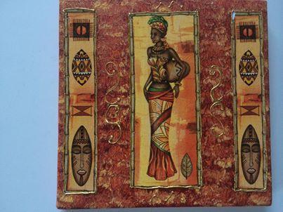 mini toile femme africaine